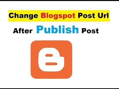 change blogger url