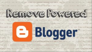 "Remove ""Powered by Blogger"""
