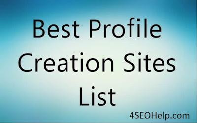 List for seo websites profile creation 350+ Free