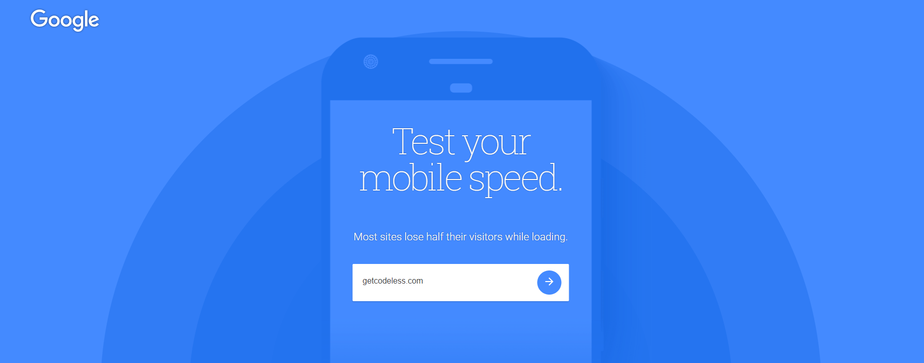 Google Test My Site tool