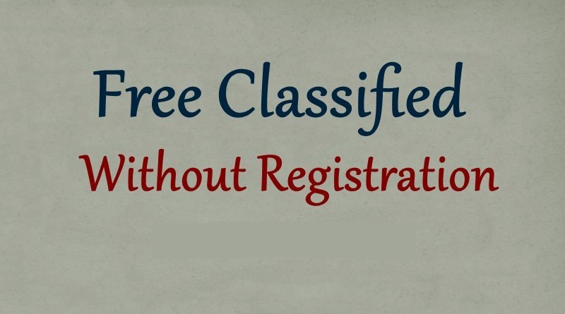 Classified Websites List Without Registration