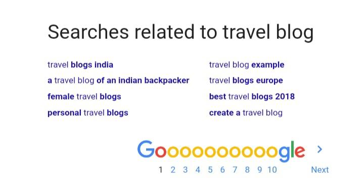 Google Footer Results